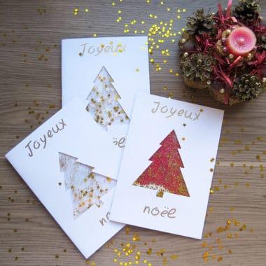 DIY carte de vœux pour noël