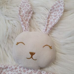 Doudou mini lapin PETITES FLEURS