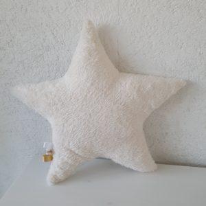 Coussin ETOILE blanc et doré