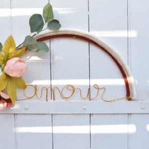 Arc en ciel AMOUR fleuri
