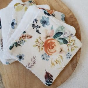 6 lingettes FLOWERS