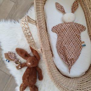 Anneau oreilles de lapin PLUMES camel