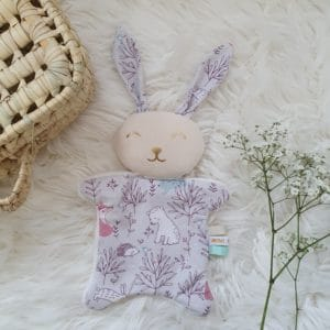 Doudou mini lapin FORET ENCHANTEE