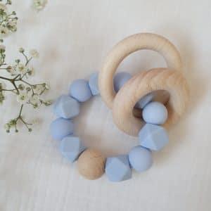 Anneau de dentition UNI bleu layette