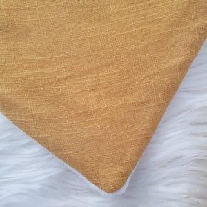 Bavoir bandana coton uni MOUTARDE