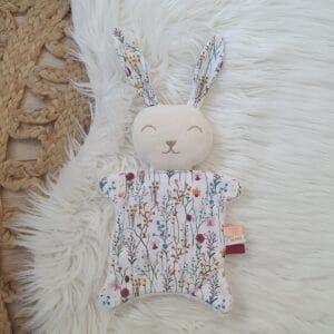 Mini doudou lapin BELLE DES CHAMPS