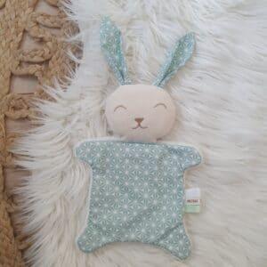 Doudou mini lapin GRAPHIQUE MINT