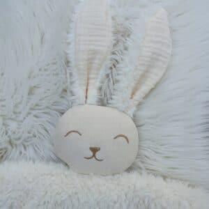 Doudou lapin FOURRURE écru