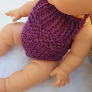Tenue pour poupon 34 cm rose et violet ensemble